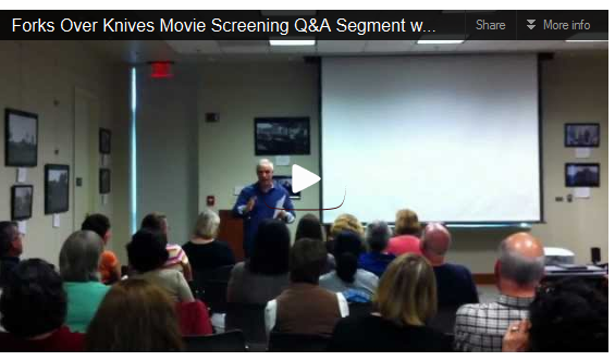 A Video from John Allen's Recent Q&A Session Regarding A Screening of Forks Over Knives in NJ
